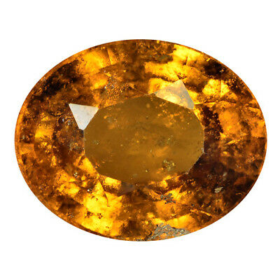 18.48Ct HUGE VERY RARE ! TOP STUNNING 100% NATURAL HESSONITE GARNET-CEYLON