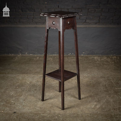 Arts and Crafts Dark Stained Oak Jardinière Stand