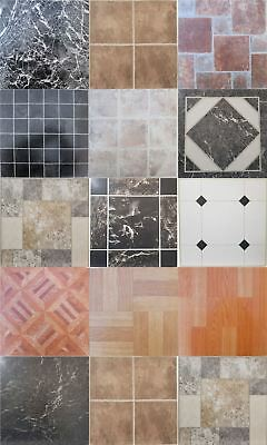 Vinyl floor tiles squares tile self adhesive easy to fit various design