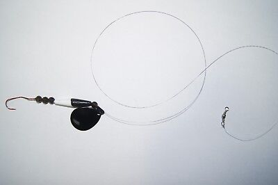 (4) FT Crawler Harnesses-Fluorocarbon-Colorado Blade-Float-Beads-Slow Death Hook
