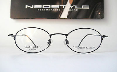 db38b29bfa Neostyle 47-18 135 Small College 86 Black Oval Eyeglass Frames Mens Classic