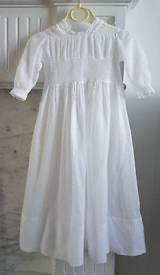 Antique dotted muslin child's dress from France