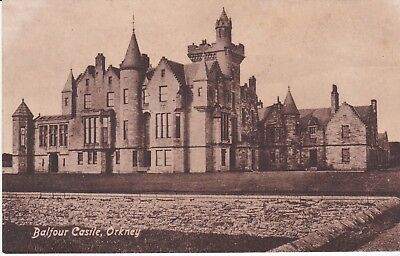 Early Orkney postcard Balfour Castle. Valentine's c.1920.