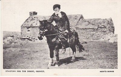 Early Orkney postcard starting for the Derby Kent's Series c.1905.