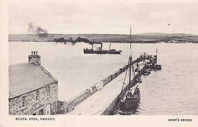 Early Orkney postcard Scapa Pier Kent's Series c.1905.