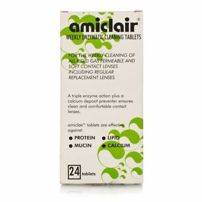 Amiclair Weekly Enzymatic Protein Remover Refill Pack 24 Weeks Supply 24 Tablets