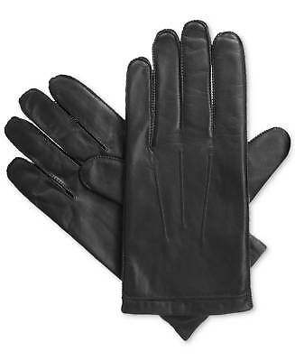 New $175 Isotoner Men'S Leather Gloves Black Smartouch Touchscreen Winter Size L
