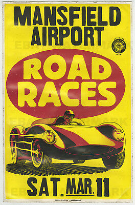 1960's Scarab Mk II Race Vintage Advertising Poster 11 x 17 Louisiana Chevrolet