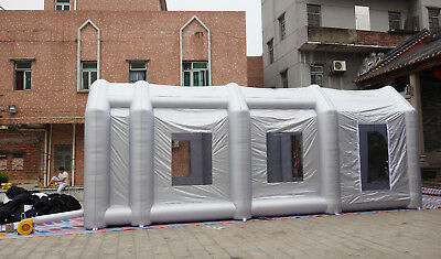 custom made inflatable Oxford cloth sealed portable spray paint booth enclosure