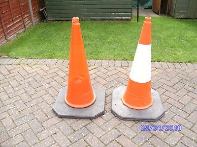 TRAFFIC CONES LARGE x 2 (95CM HIGH) has other uses like portable football goals!