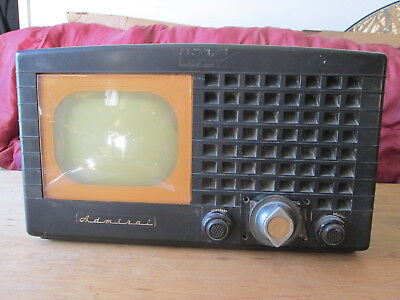 Rare Vintage Antique Admiral 19A1 S A black Bakelite Television TV 1949 model