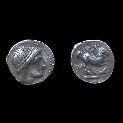 1 Rare Unresearched Hemidrachm Greek Silver Coin 300 Bc Greek (450 Bc-100 Ad)
