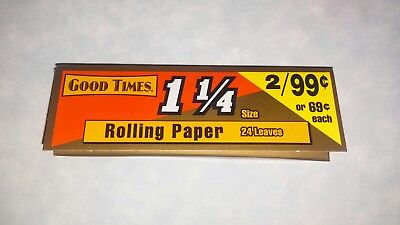 2x GOOD TIMES 1-1//4 Rolling Papers Two Books of 24 Leaves
