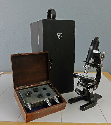 Spencer Model 42Bd Petrographic Polarizing Research Microscope Case & Accys 1946