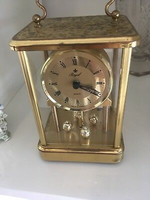 Vintage Royal Mantle Glass Dome Clock Made in W Germany (for parts)