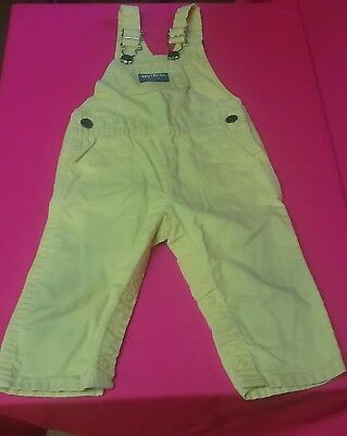 OSHKOSH USA vintage baby toddler overall yellow coverall 12 18 months 1T