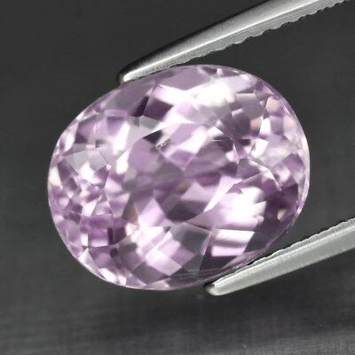 VS 5.92ct 11.5x9.4mm Oval Natural Untreated Light Pink Kunzite