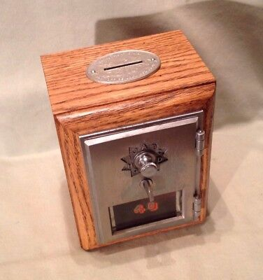 Antique Vintage Post Office Door Mail Box Postal Bank-1961 American Device