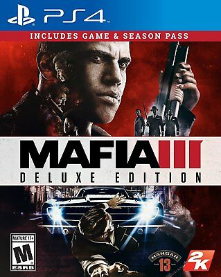 Mafia III 3 DELUXE Edition w/ Season Pass (PlayStation 4) BRAND NEW & SEALED ps4