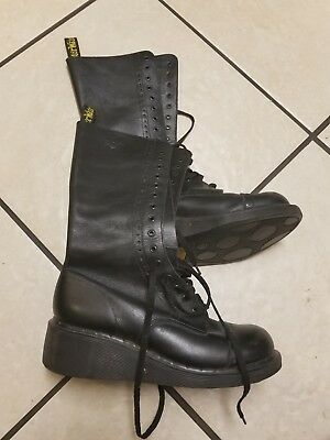 43713b7df7b7 DR MARTENS Black Leather Tall Lace Up Cap-Toe Oxford Boots WOMENS UK 6 US