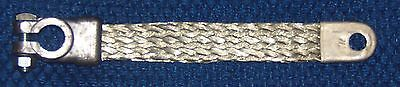 9 inch 4 gauge braided copper ground battery cable strap new vintage steel