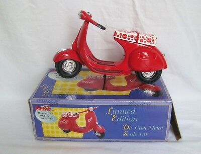 1995 Coca Cola Limited Edition Miniature Pedal Scooter 1:6 Scale Serial #8355