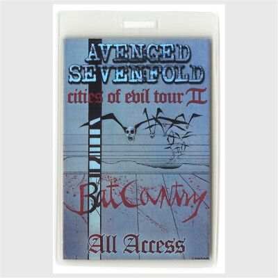 Avenged Sevenfold authentic 2006 Laminated Backstage Pass Cities of Evil Tour 2