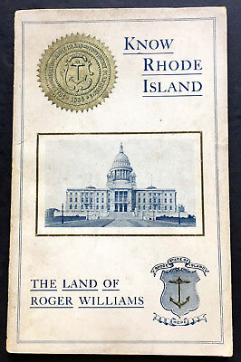 1931 Know Rhode Island, Facts Concerning the Land of Roger Williams