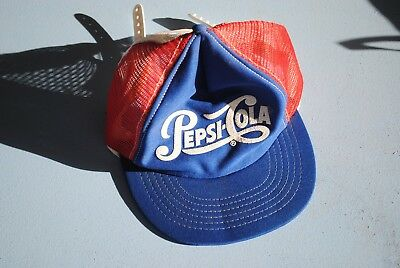 Vintage Pepsi Cola Trucker hat Made in USA  1980s