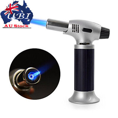 Kitchen Upgraded Culinary Butane Torch Food Cook Creme Brulee Blow Torch BBQ AU