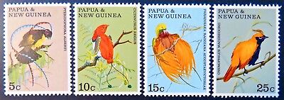 1970 Papua New Guinea Stamps - Birds of Paradise - Set of 4 MNH