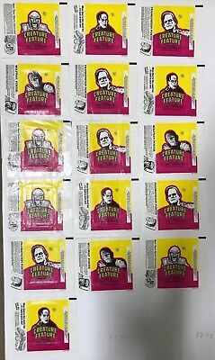 Trading Card Wax Wrapper Lot Of 16 Creature Feature, 4 Sets Of 4 From 1980