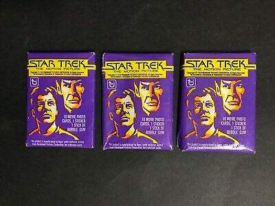 Star Trek The Motion Picture Trading Card Lot Of 3 Full Packs