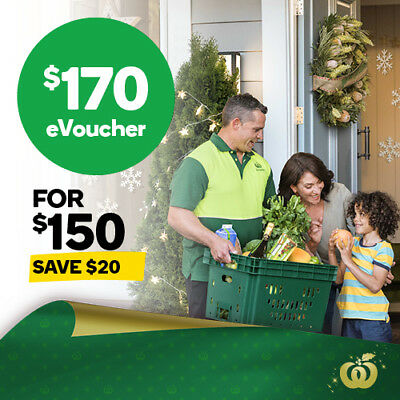 Woolworths $170 eVoucher for only $150. Save $20 on your online shop!