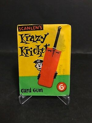 Scanlens Supr Rare Krazy Kricket Unopened Pack From 1965