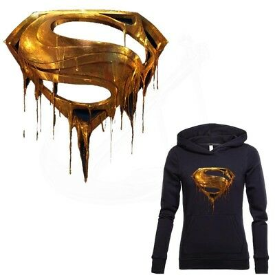 Metal Superman Mark Sticker Patch T-shirt Thermal Transfer Patches for Clothing