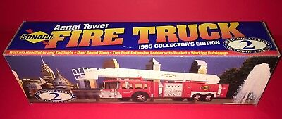 Sunoco 1995 Aerial Fire Truck-Collector's Edition #2 In The Series New In Box