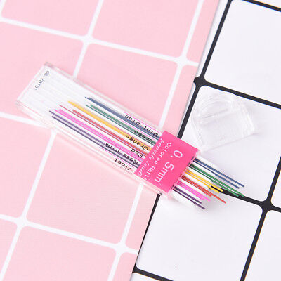1box 0.5mm Colored Mechanical Pencil Refill Lead Erasable Student Stationary  NB