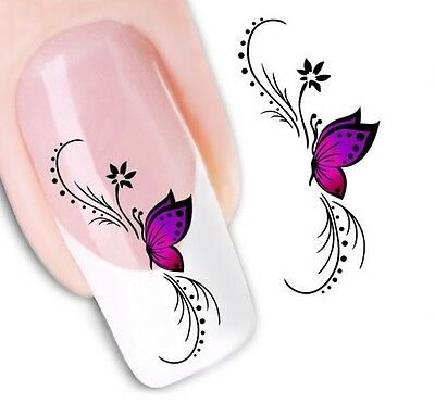 Water Transfer Nail Sticker Decals DIY Flower Art Decoration Fingernail Fashion