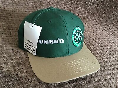 Celtic Retro Umbro Football Cap New