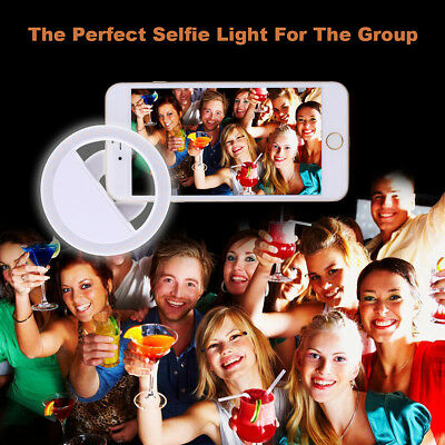 Selfie Ring Light Portable Flash 36 LED Camera Phone Photography USB Enhancing