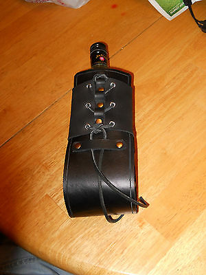 Handmade Medieval / Renaissance Style leather bottle Holder made w/ Real Leather