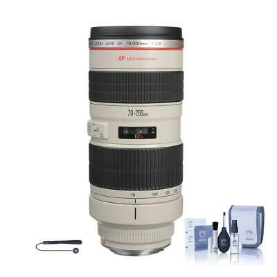 Canon EF 70-200mm f/2.8L USM Lens, USA - Includes Cleaning Kit, Capleash II