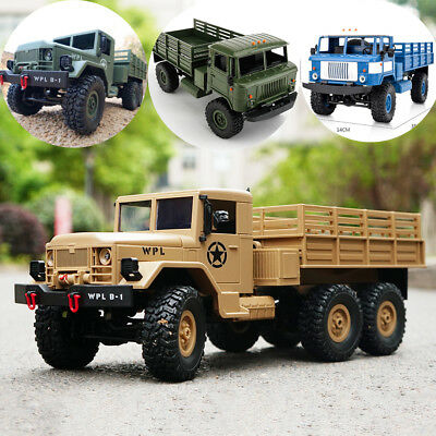 WPL RC Truck 1/16 Rock Crawler Off-Road 4/6WD Military Truck Remote Control Car