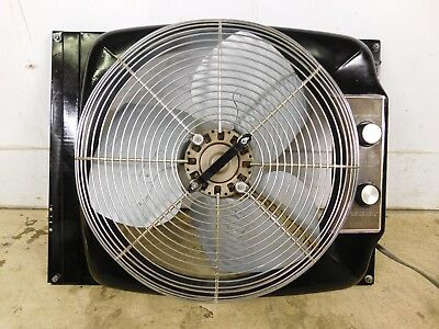 "Vtg Big Strong Sears 3 Speed Reversible 20"" Window Fan Adjusts Intake Or Exhaust"