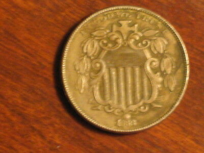 1868 Shield Nickel - Extremely Fine to AU
