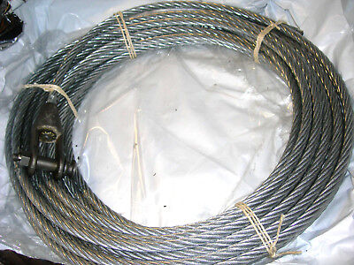 GALVANISED STEEL WIRE ROPE 16mm X 17 METRES   UNUSED