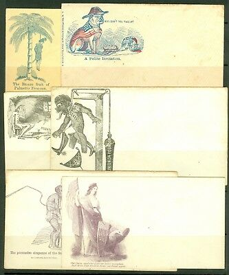 A collection of eleven unused Union propaganda envelopes, various motifs. Incl..