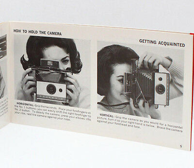 Vintage Polaroid 103 Instant Film Land Camera Manual Instructions Guide 1966