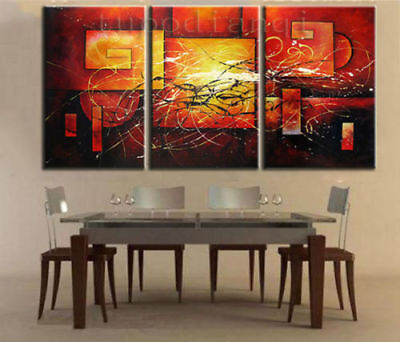 ZOPT164 3pcs modern abstract hand painted wall decor art OIL PAINTING ON CANVAS